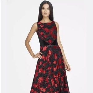 WTTAHARI Black Red Claret Long Dress Gown Velvet10